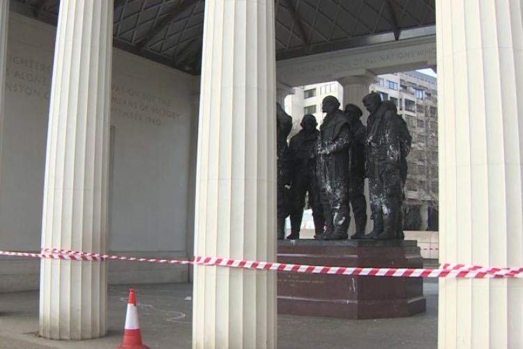 Clean-Up Underway On Vandalised RAF Memorial