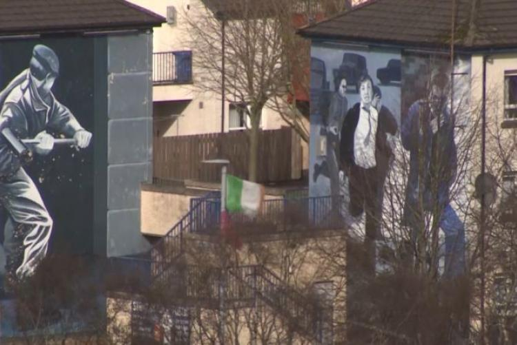 Murals on sides of houses in Londonderry