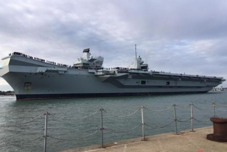 HMS Queen Elizabeth Return to Britain from the US
